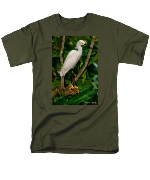 Men's T-Shirt  (Regular Fit) featuring the photograph White Egret by Christopher Holmes