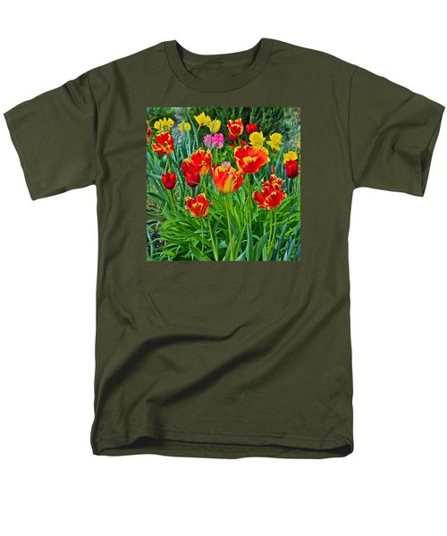 2015 Acewood Tulips 6 Men's T-Shirt  (Regular Fit) by Janis Nussbaum Senungetuk