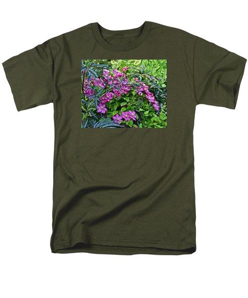 2015 Summer At The Garden Beautiful Clematis Men's T-Shirt  (Regular Fit) by Janis Nussbaum Senungetuk