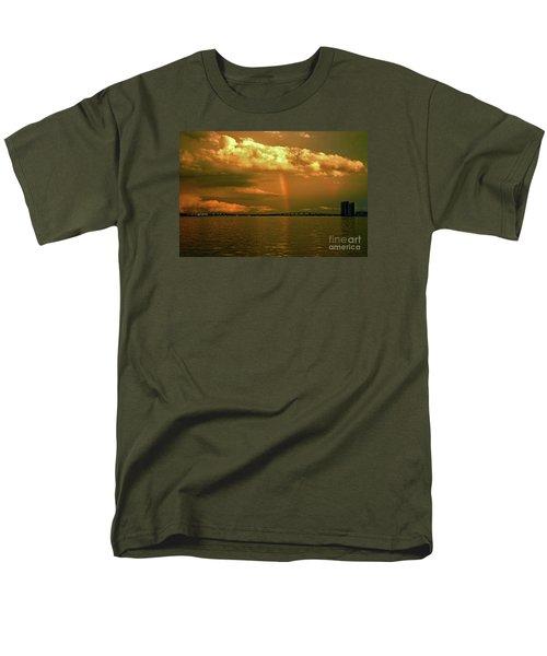 Men's T-Shirt  (Regular Fit) featuring the photograph 3- Blue Heron Bridge by Rainbows
