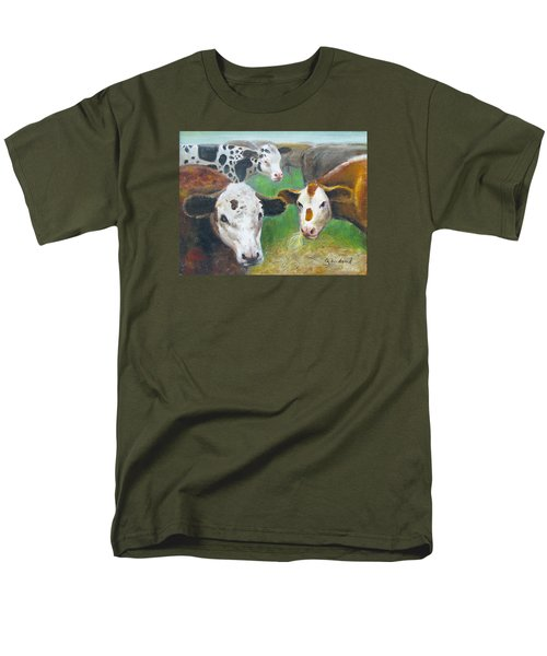 3 Cows Men's T-Shirt  (Regular Fit) by Oz Freedgood