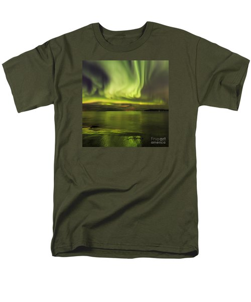 Northern Lights Reykjavik Men's T-Shirt  (Regular Fit) by Gunnar Orn Arnason