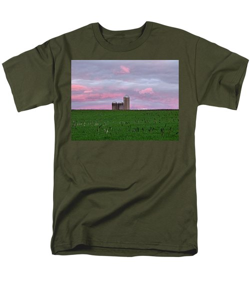 Men's T-Shirt  (Regular Fit) featuring the photograph 3 Silos by Robert Geary