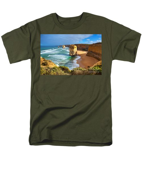 Men's T-Shirt  (Regular Fit) featuring the photograph Twelve Apostles Great Ocean Road by Bill  Robinson