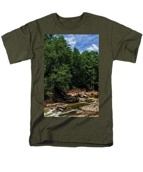 Men's T-Shirt  (Regular Fit) featuring the photograph Williams River After The Flood by Thomas R Fletcher