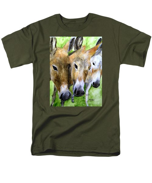 Men's T-Shirt  (Regular Fit) featuring the painting 3 Wise Mules by Carol Grimes