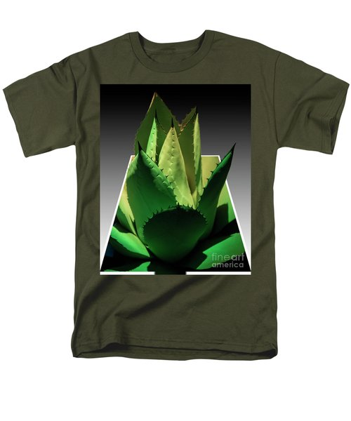 Men's T-Shirt  (Regular Fit) featuring the photograph 3d Cactus by Darleen Stry