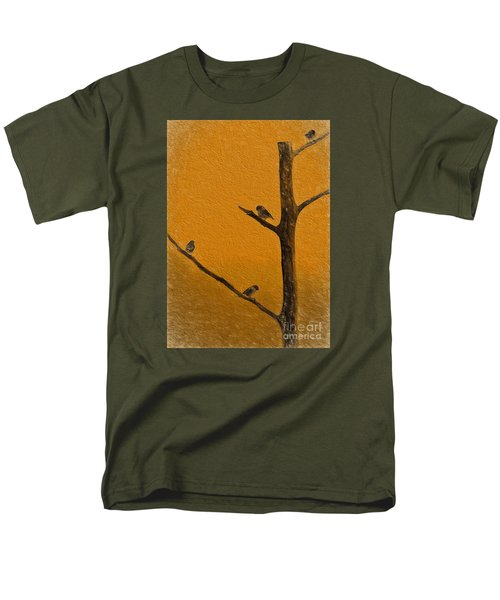 Men's T-Shirt  (Regular Fit) featuring the photograph 4 Birds by Mim White