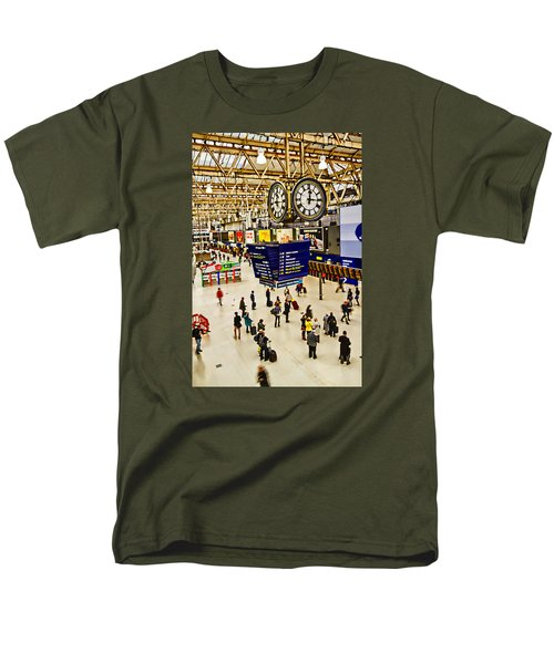 London Waterloo Station Men's T-Shirt  (Regular Fit) by David French