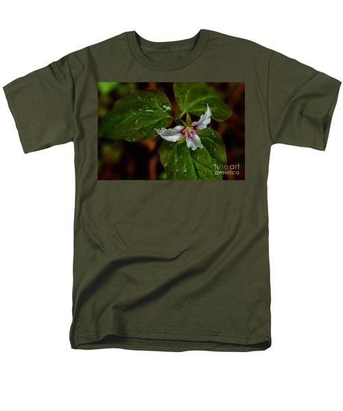 Men's T-Shirt  (Regular Fit) featuring the photograph Painted Trillium  by Thomas R Fletcher