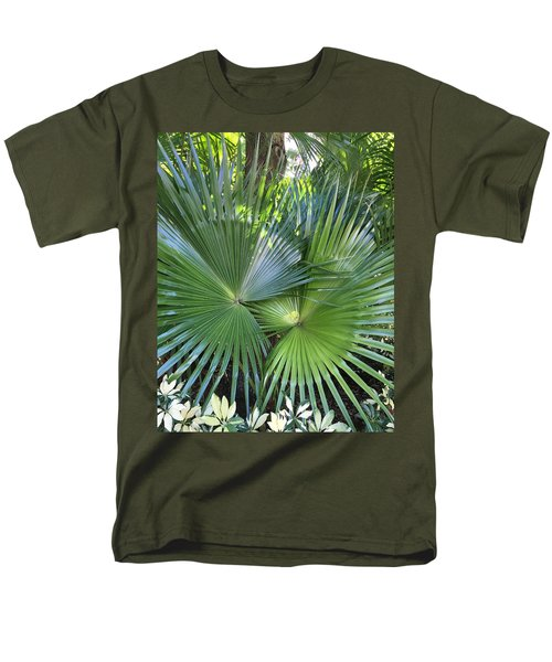 Palm Fronds Men's T-Shirt  (Regular Fit) by Kay Gilley