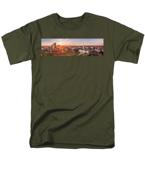 Sunrise In Hartford, Connecticut Men's T-Shirt  (Regular Fit) by Petr Hejl