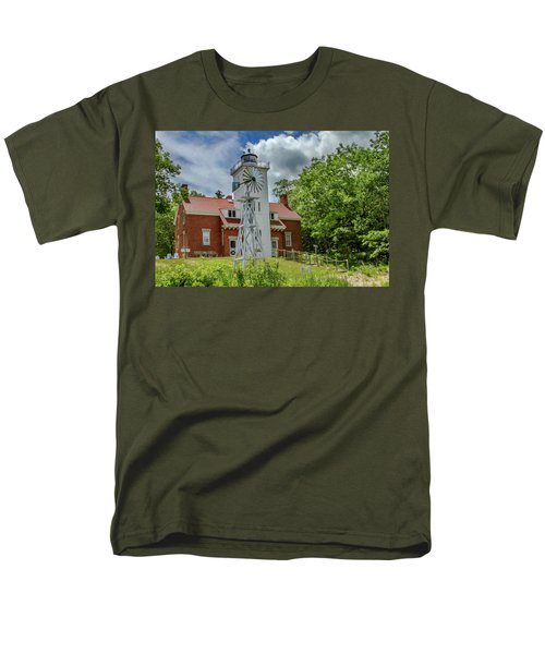 Men's T-Shirt  (Regular Fit) featuring the photograph 40 Mile Point Lighthouse by Bill Gallagher