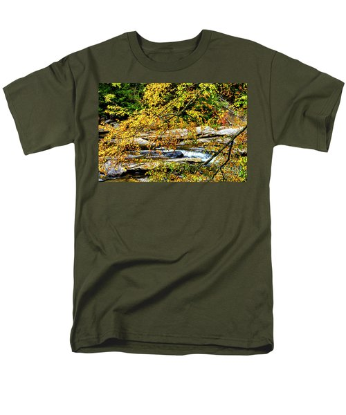 Autumn Middle Fork River Men's T-Shirt  (Regular Fit) by Thomas R Fletcher