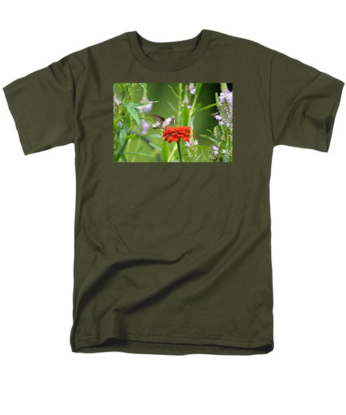 Men's T-Shirt  (Regular Fit) featuring the photograph Humming Bird by Lila Fisher-Wenzel