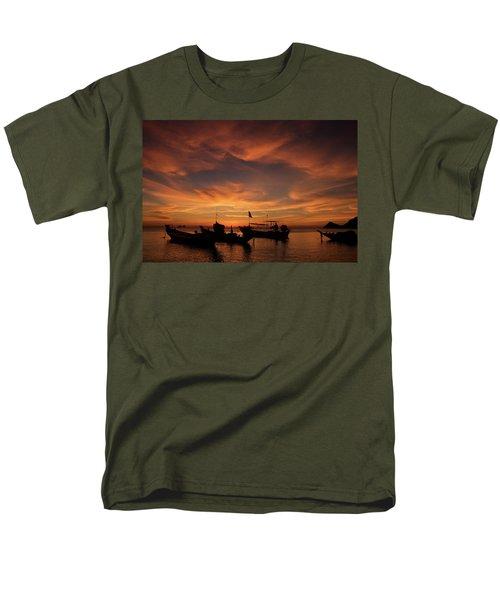 Sunrise On Koh Tao Island In Thailand Men's T-Shirt  (Regular Fit) by Tamara Sushko