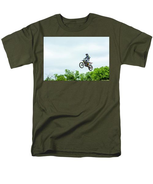 Men's T-Shirt  (Regular Fit) featuring the photograph 573 Flying High At White Knuckle Ranch by David Morefield