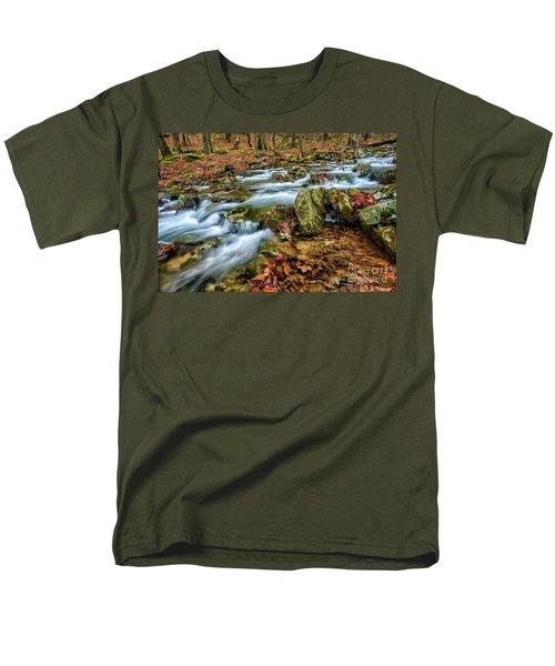 Men's T-Shirt  (Regular Fit) featuring the photograph Aldrich Branch Monongahela National Forest by Thomas R Fletcher