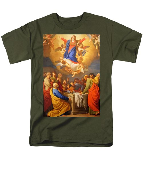 Men's T-Shirt  (Regular Fit) featuring the painting Angels by Munir Alawi