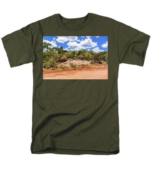 Landscape In Tanzania Men's T-Shirt  (Regular Fit) by Marek Poplawski
