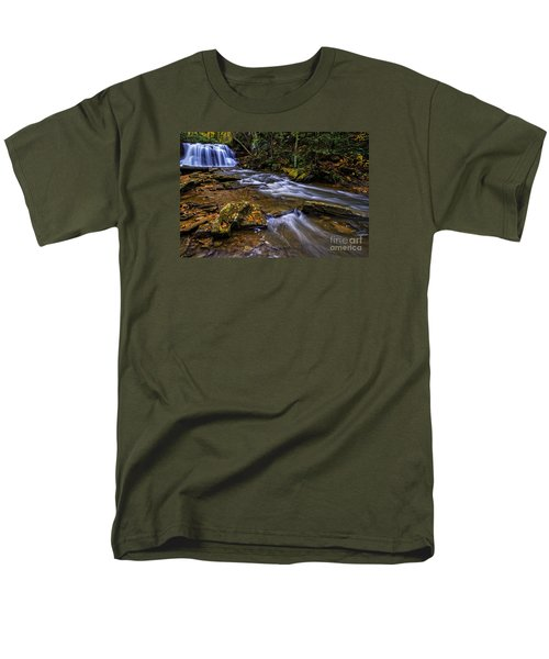 Upper Falls Holly River Men's T-Shirt  (Regular Fit) by Thomas R Fletcher