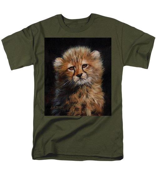 Cheetah Cub Men's T-Shirt  (Regular Fit) by David Stribbling