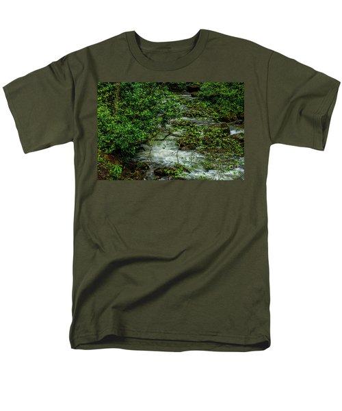 Men's T-Shirt  (Regular Fit) featuring the photograph Kens Creek Cranberry Wilderness by Thomas R Fletcher