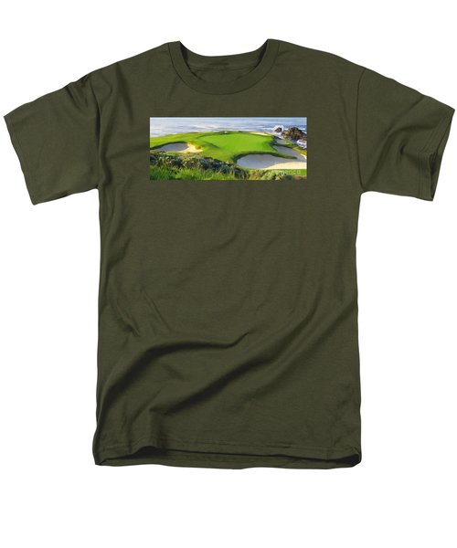 7th Hole At Pebble Beach Hol Men's T-Shirt  (Regular Fit)