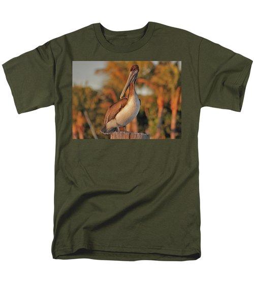 Men's T-Shirt  (Regular Fit) featuring the photograph 9- Brown Pelican by Joseph Keane