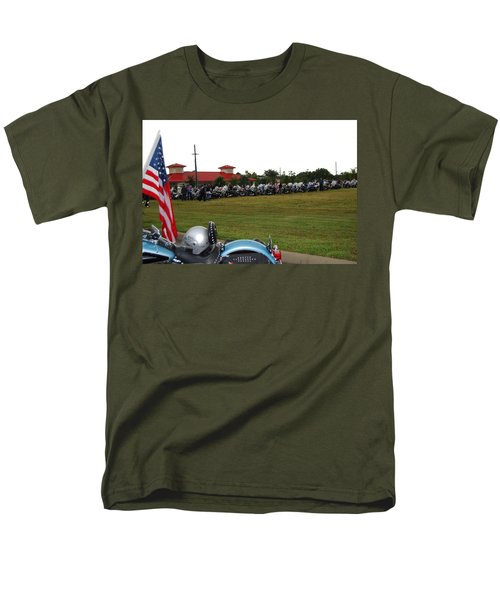 911 Ride Line Up Men's T-Shirt  (Regular Fit) by Angela Murray