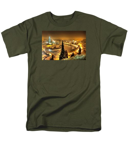 A Beautiful Blonde In Thick Paint Men's T-Shirt  (Regular Fit) by Catherine Lott