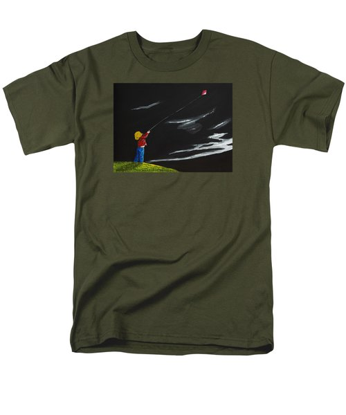 A Braw Night For Flight Men's T-Shirt  (Regular Fit) by Scott Wilmot