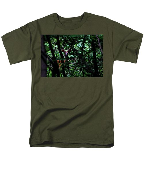 A Buck Peers From The Woods Men's T-Shirt  (Regular Fit)
