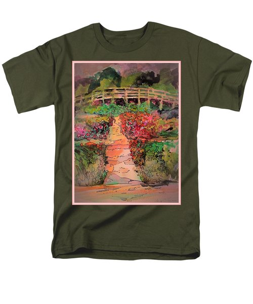 A Charming Path Men's T-Shirt  (Regular Fit) by Mindy Newman