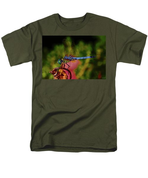 Men's T-Shirt  (Regular Fit) featuring the photograph A Dragonfly 028 by George Bostian