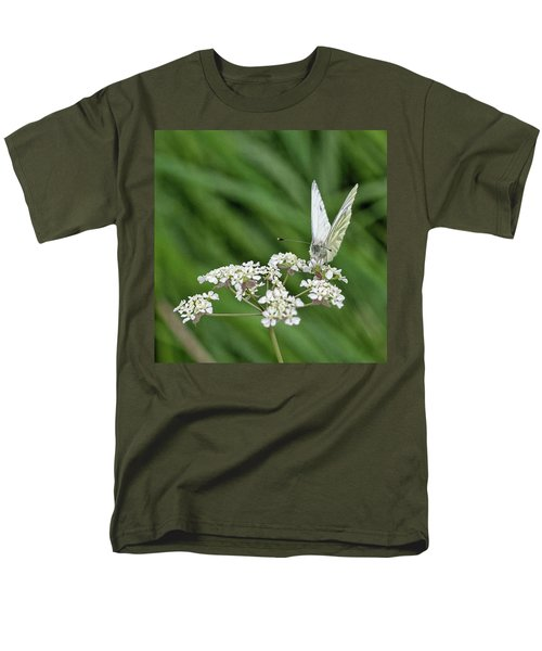 A Green-veined White (pieris Napi) Men's T-Shirt  (Regular Fit) by John Edwards