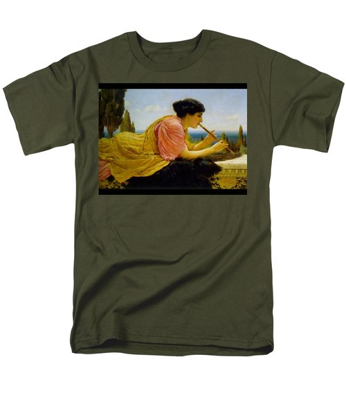 A Melody  Men's T-Shirt  (Regular Fit) by John William Godward