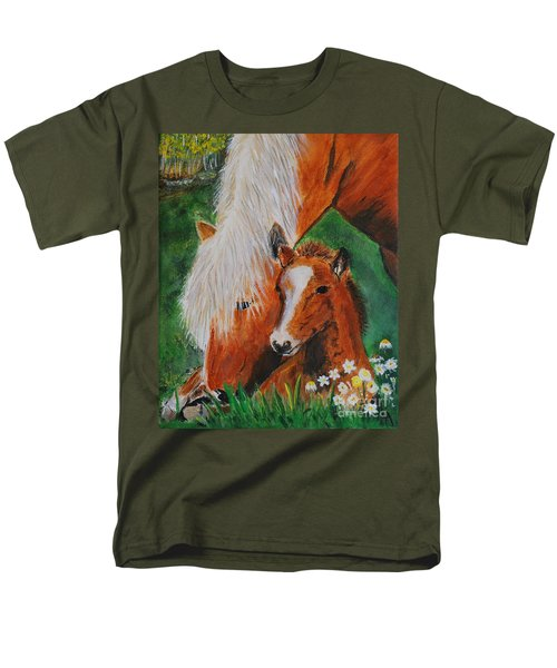 Men's T-Shirt  (Regular Fit) featuring the painting A Mothers Love by Leslie Allen