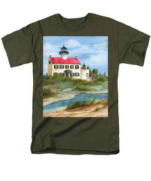 Men's T-Shirt  (Regular Fit) featuring the painting A Nice Day At The Point  by Nancy Patterson