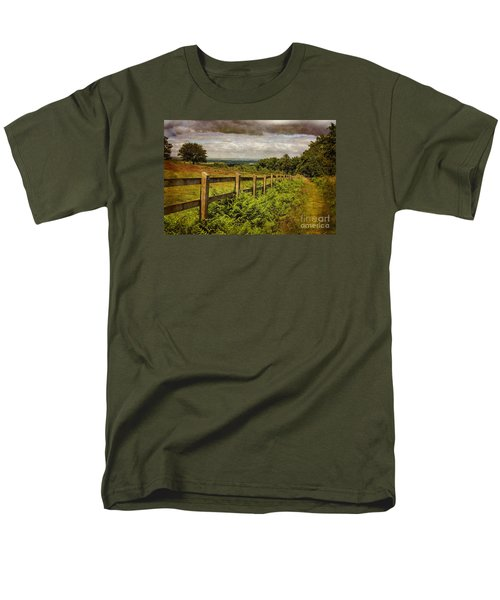 Men's T-Shirt  (Regular Fit) featuring the photograph A Path From  A Hill by Linsey Williams