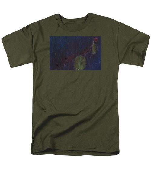 Men's T-Shirt  (Regular Fit) featuring the painting A Person Who  Inquires Into  The Soul Of Things by Min Zou