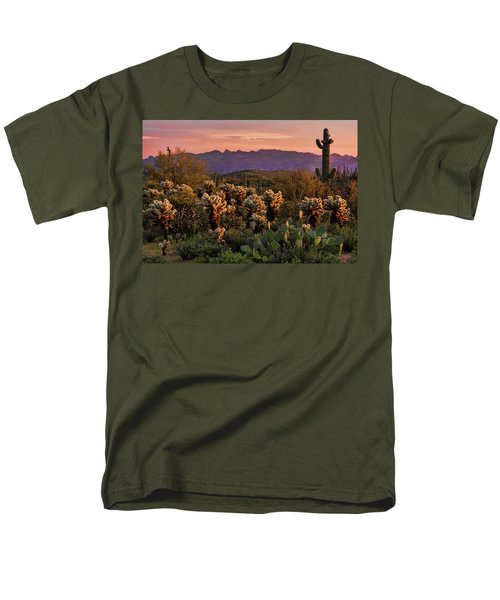 Men's T-Shirt  (Regular Fit) featuring the photograph A Pink Kissed Sunset  by Saija Lehtonen