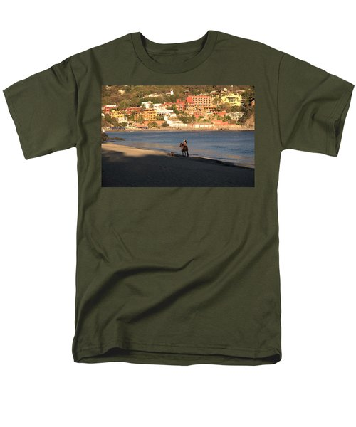 Men's T-Shirt  (Regular Fit) featuring the photograph A Ride On The Beach by Jim Walls PhotoArtist