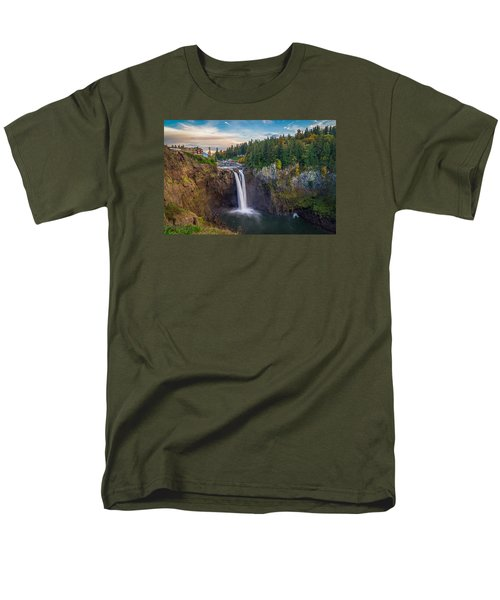 A Snoqualmie Falls  Autumn Men's T-Shirt  (Regular Fit) by Ken Stanback