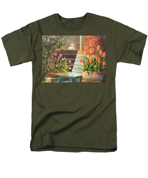 Men's T-Shirt  (Regular Fit) featuring the painting A Special Place by Renate Nadi Wesley
