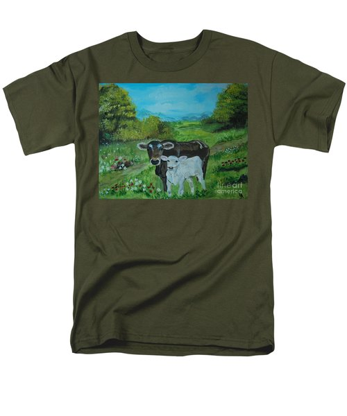 Men's T-Shirt  (Regular Fit) featuring the painting A Tender Love by Leslie Allen