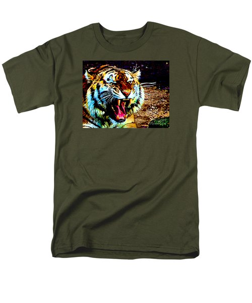 A Tiger's Roar Men's T-Shirt  (Regular Fit) by Zedi