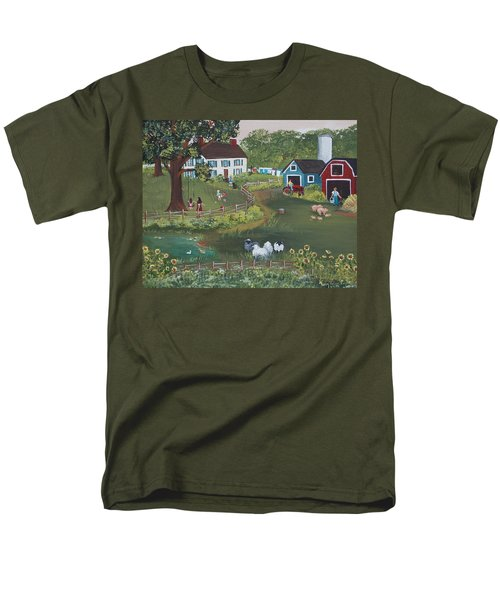 Men's T-Shirt  (Regular Fit) featuring the painting A Time To Play by Virginia Coyle