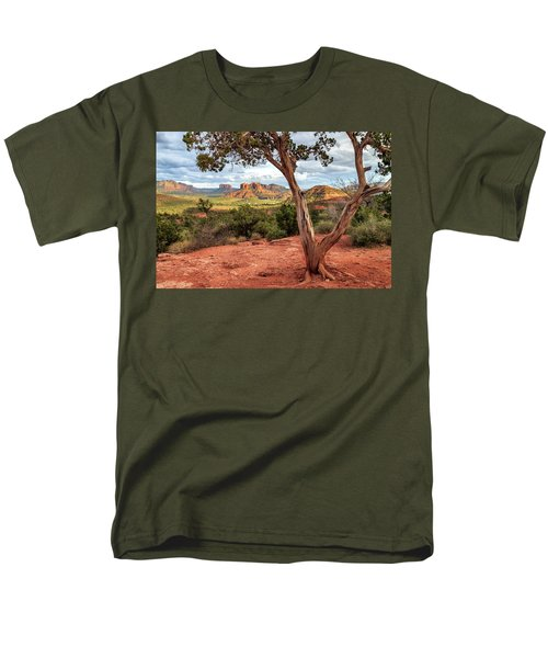 A Tree In Sedona Men's T-Shirt  (Regular Fit) by James Eddy