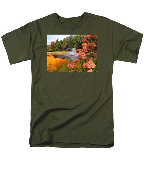 Men's T-Shirt  (Regular Fit) featuring the photograph A Vision Of Autumn by Teresa Schomig